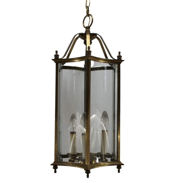 Chatelet vintage brass and glass lantern
