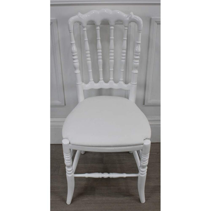 chatelet toronto white high gloss Hollywood glamorous chair