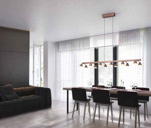 correct pendant mounting height for over a dining table coffee coloured LED decorative lighting zlights 2021 tips