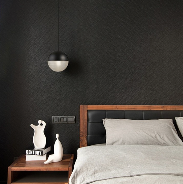 increased mounting height for a black modern LED round pendant light 2021 black and timber bedroom theme zlights New Zealand