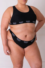 Load image into Gallery viewer, Black Comfort Lounge Underwear Set
