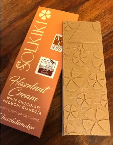 Solkiki Vegan Gianduja Hazelnut Cream Chocolate Bar