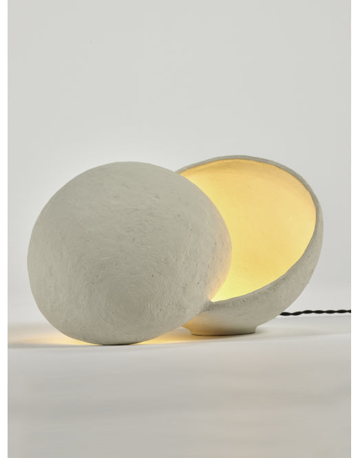 Lampe de table terre blanche
