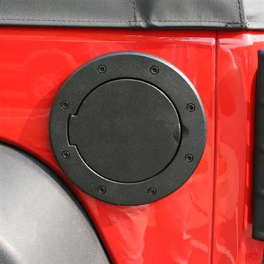Rugged Ridge Black Non-Locking Fuel Hatch Cover - JK