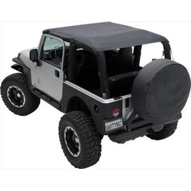 Smittybilt Extended Brief Top and Windshield Channel Bundle