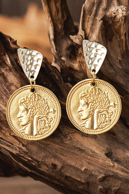 Vintage Ethnic Coin Round Earrings