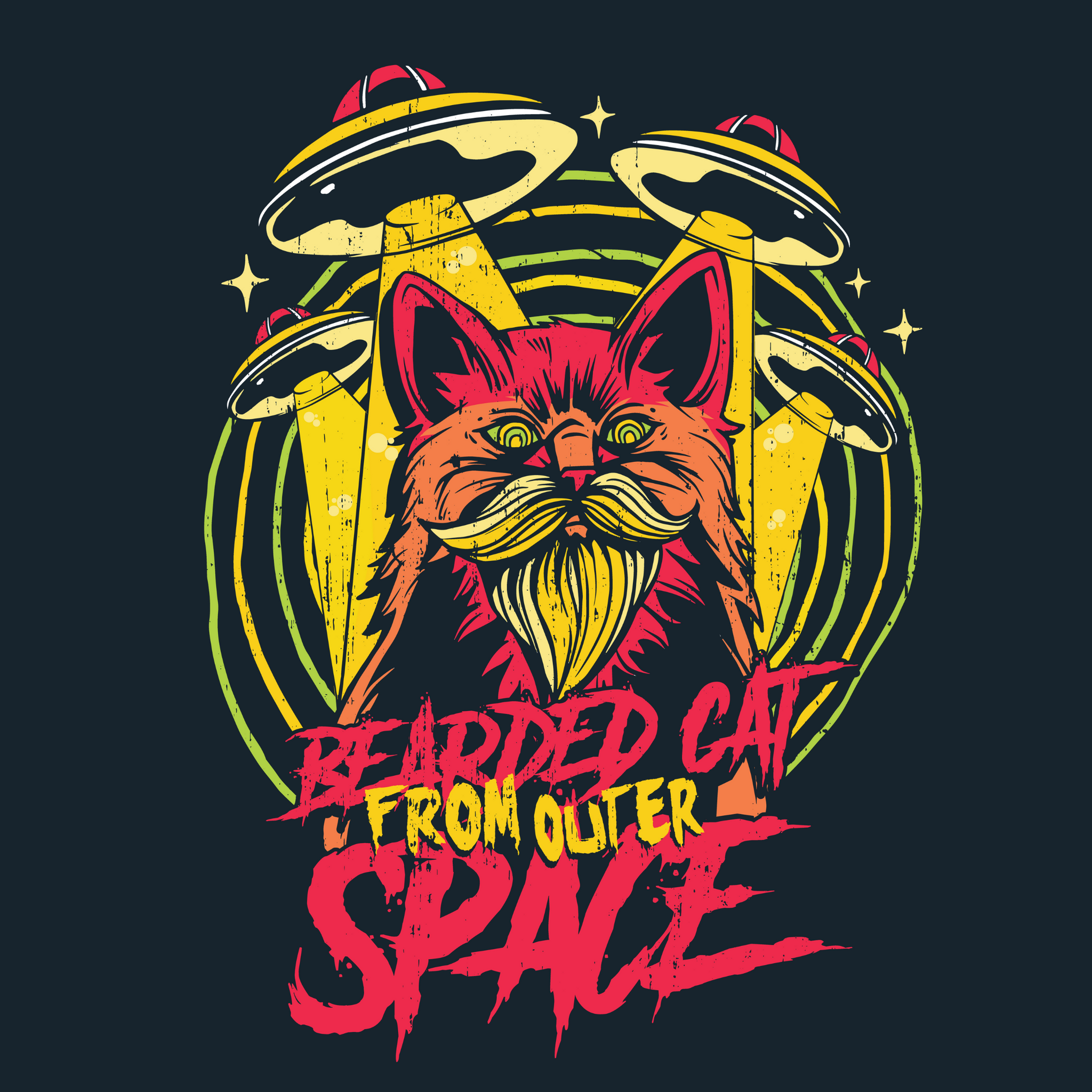 Bearded Cat From Space - Bastard Graphics
