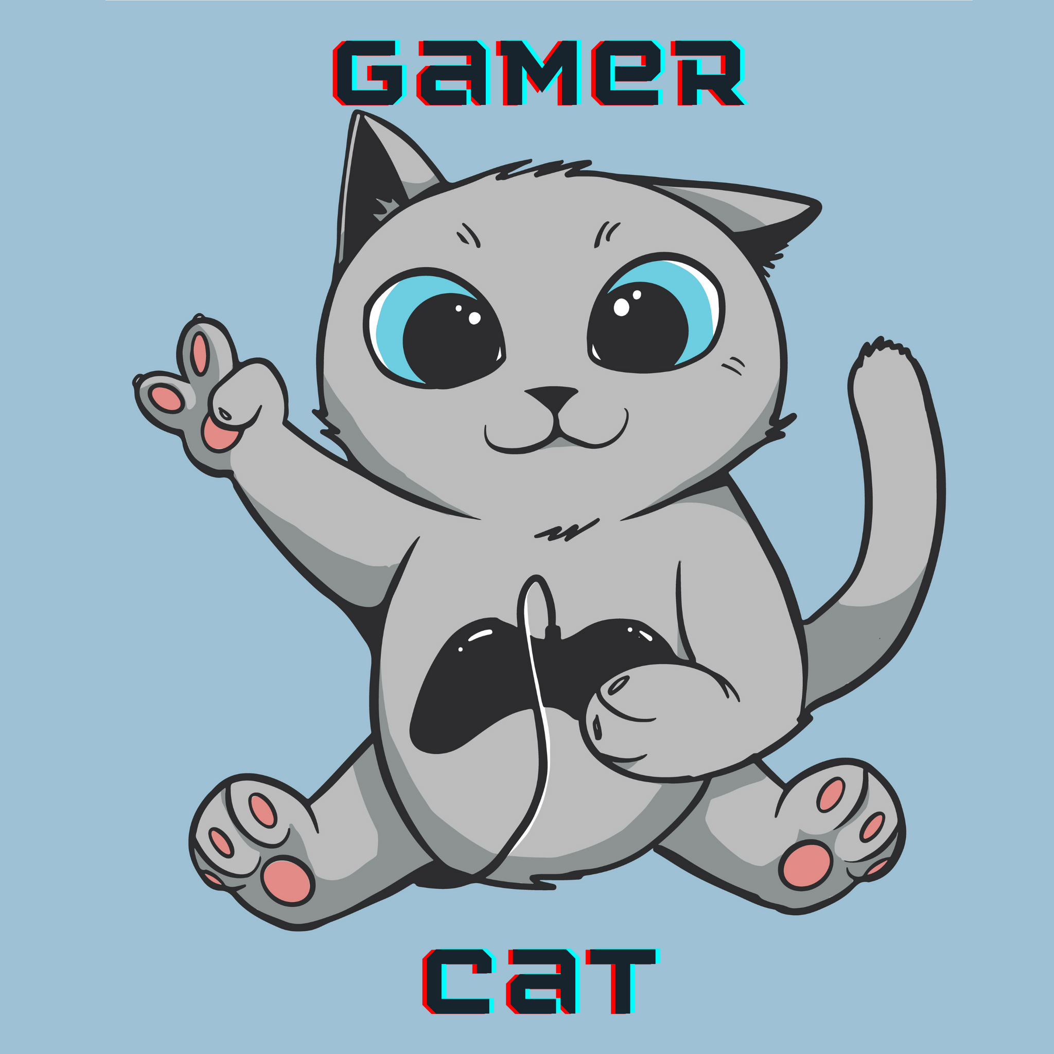 Gamer Cat - Bastard Graphics