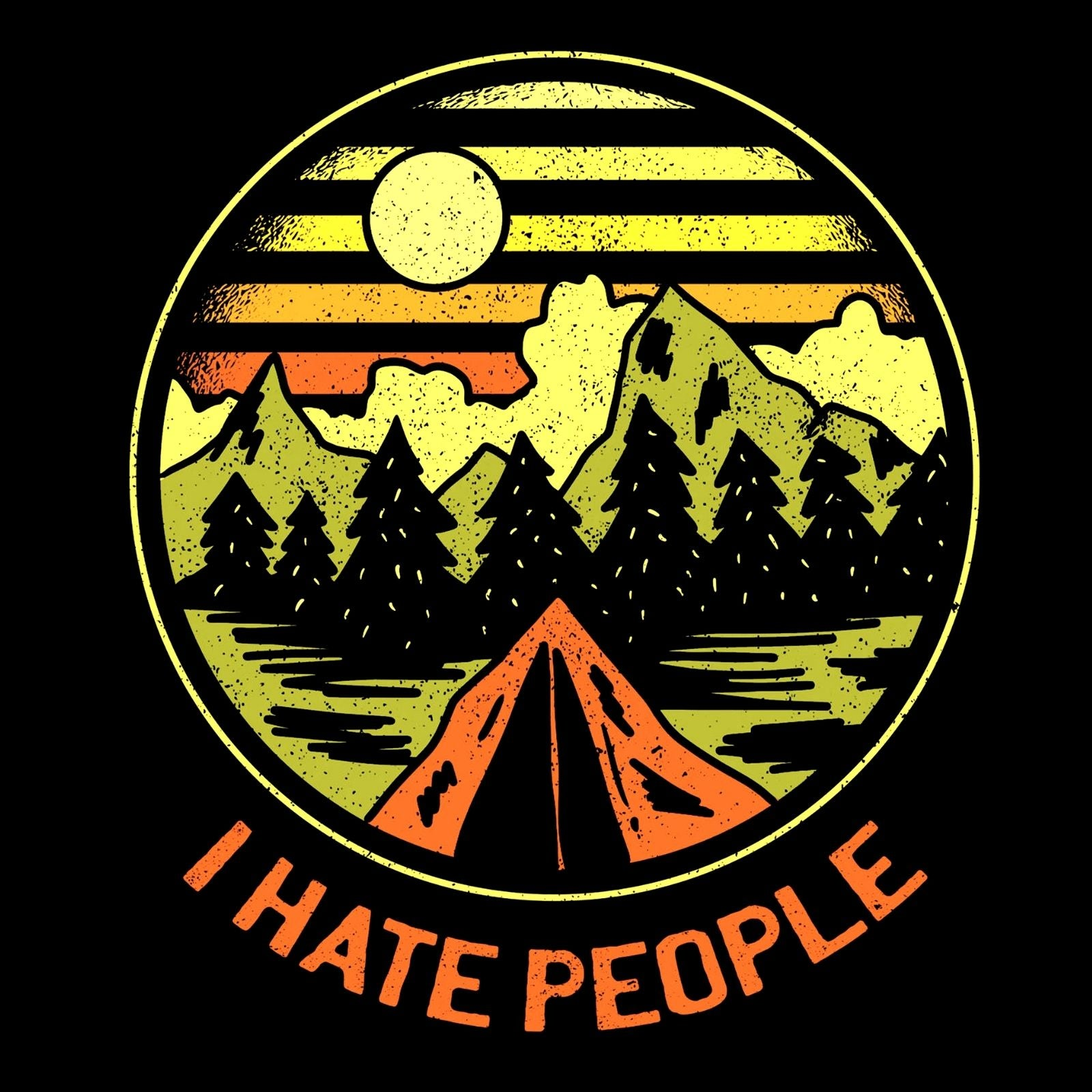 I Hate People And Love Mountains - Bastard Graphics