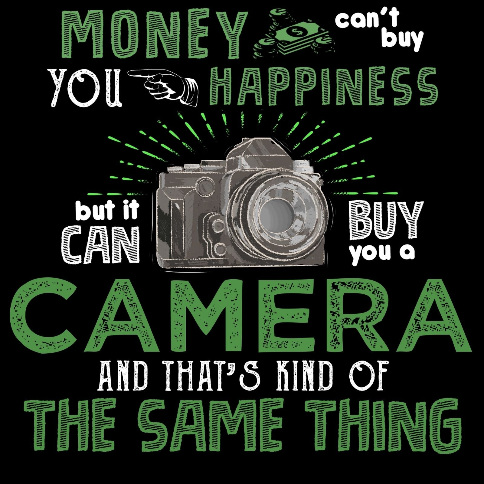 Money Can't Buy You Happiness But It Can Buy You A Camera And That's Kind of The Same Thing! - Bastard Graphics