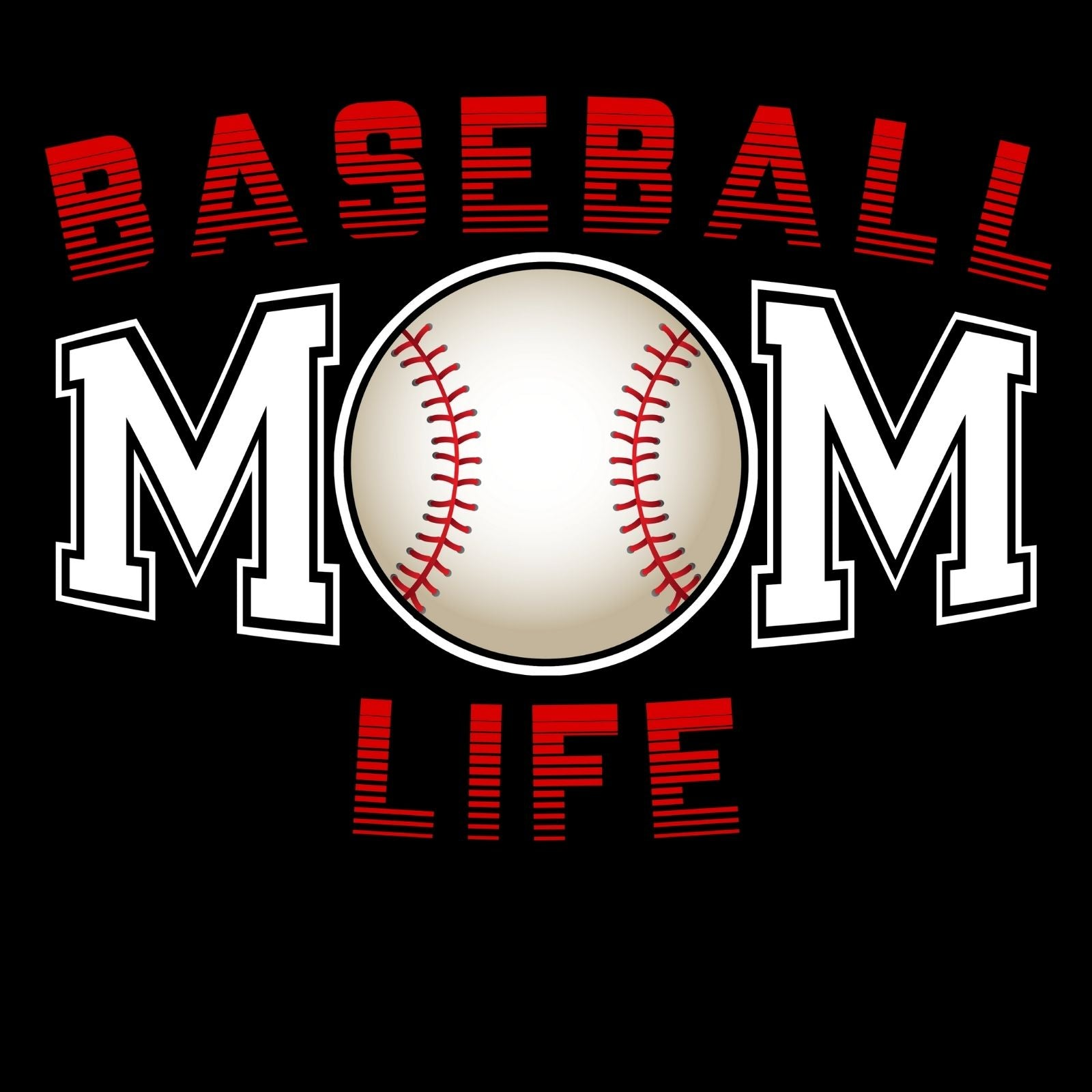 Baseball Mom Life - Bastard Graphics