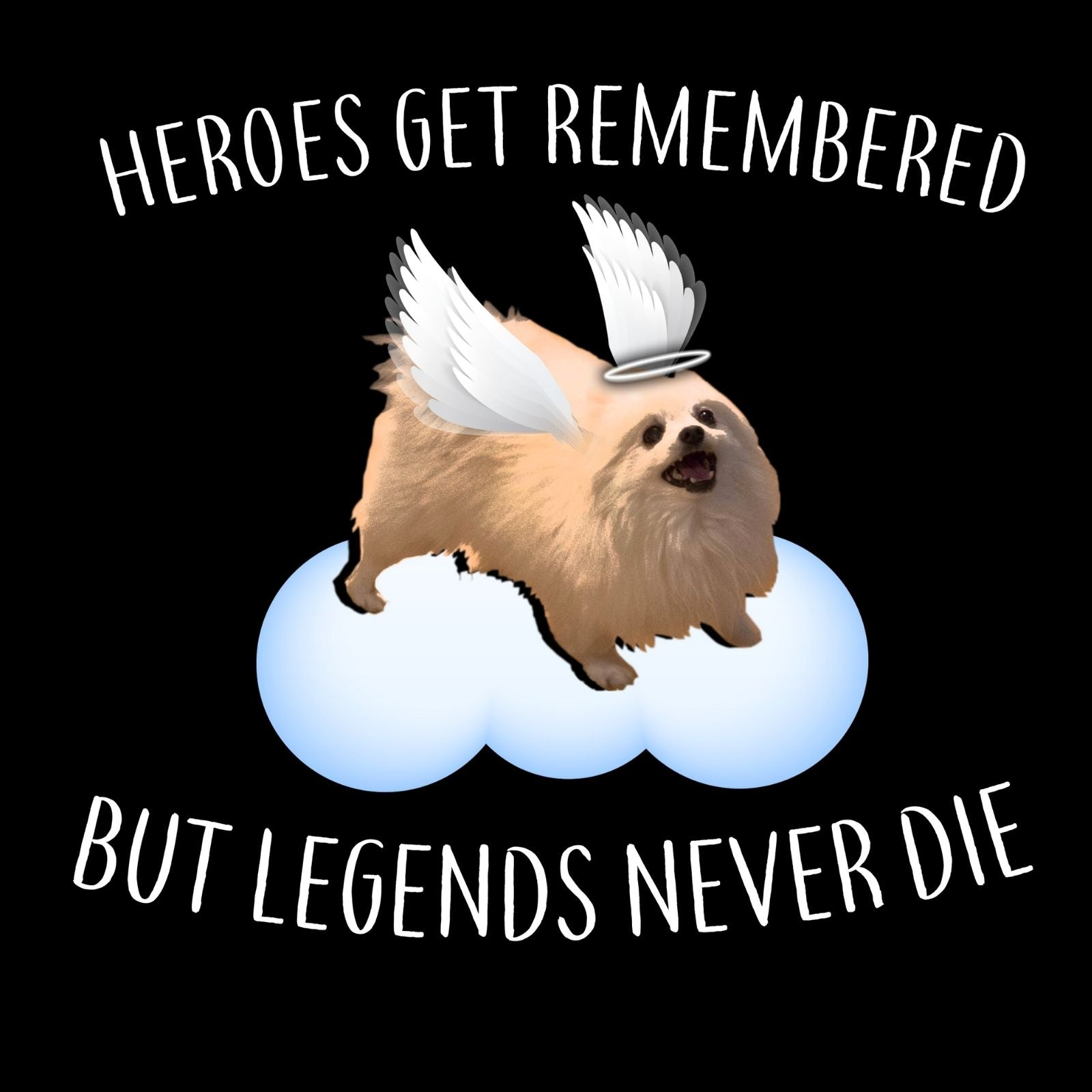 Heroes Get Remembered But Legends Never Die - Bastard Graphics