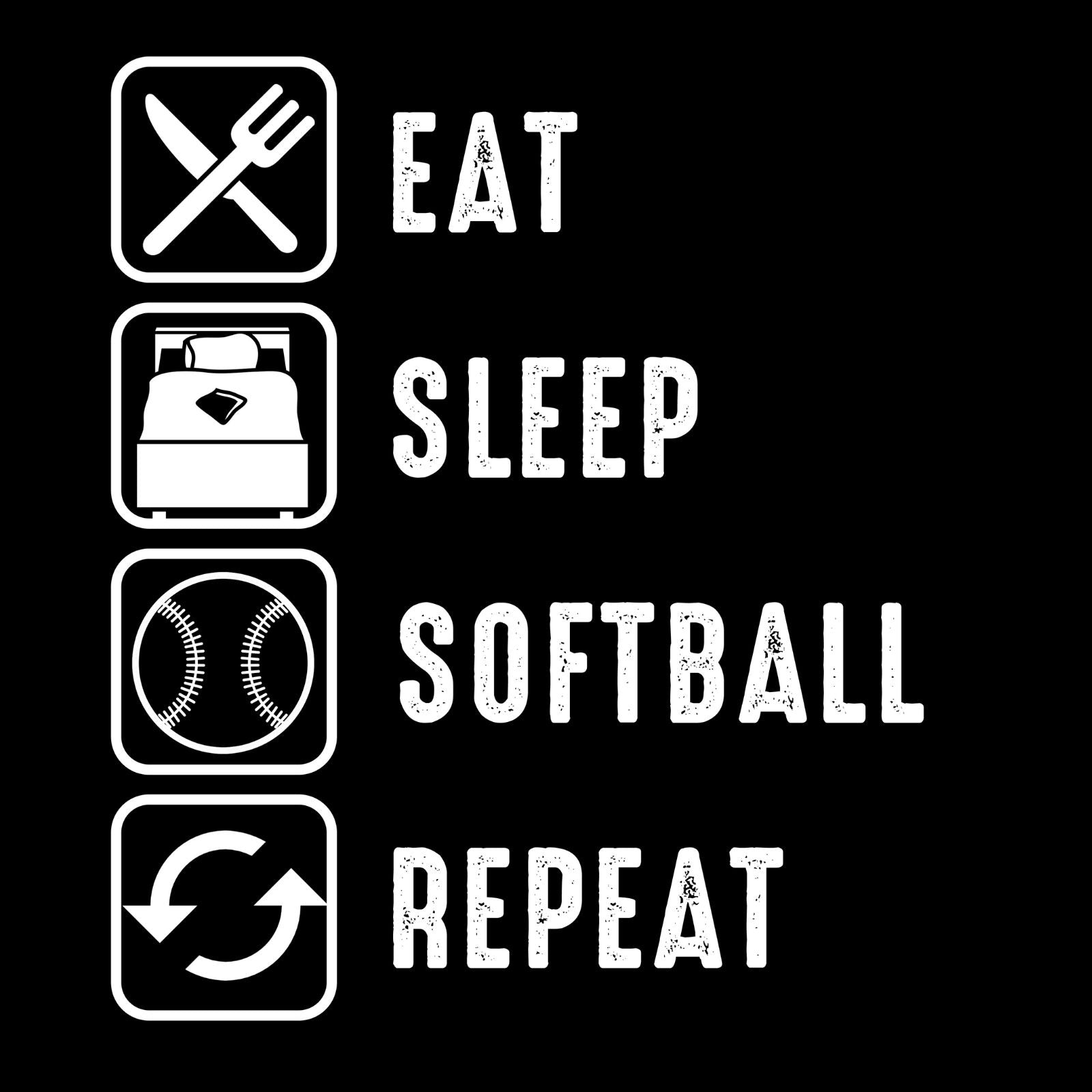 Eat Sleep Softball Repeat - Bastard Graphics