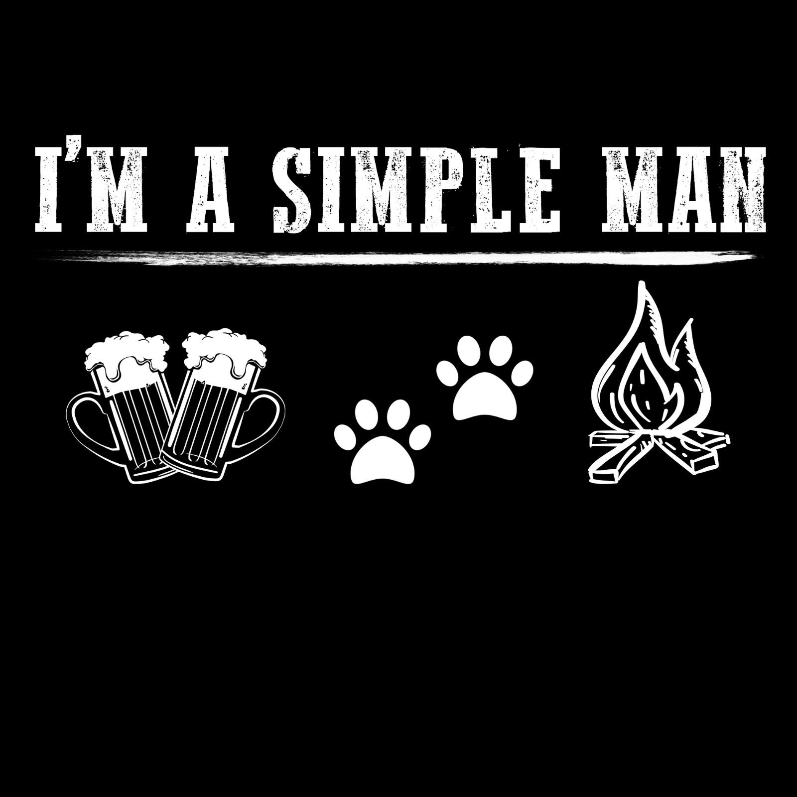 I'm A Simple Man Beer, Pets And Camping - Bastard Graphics
