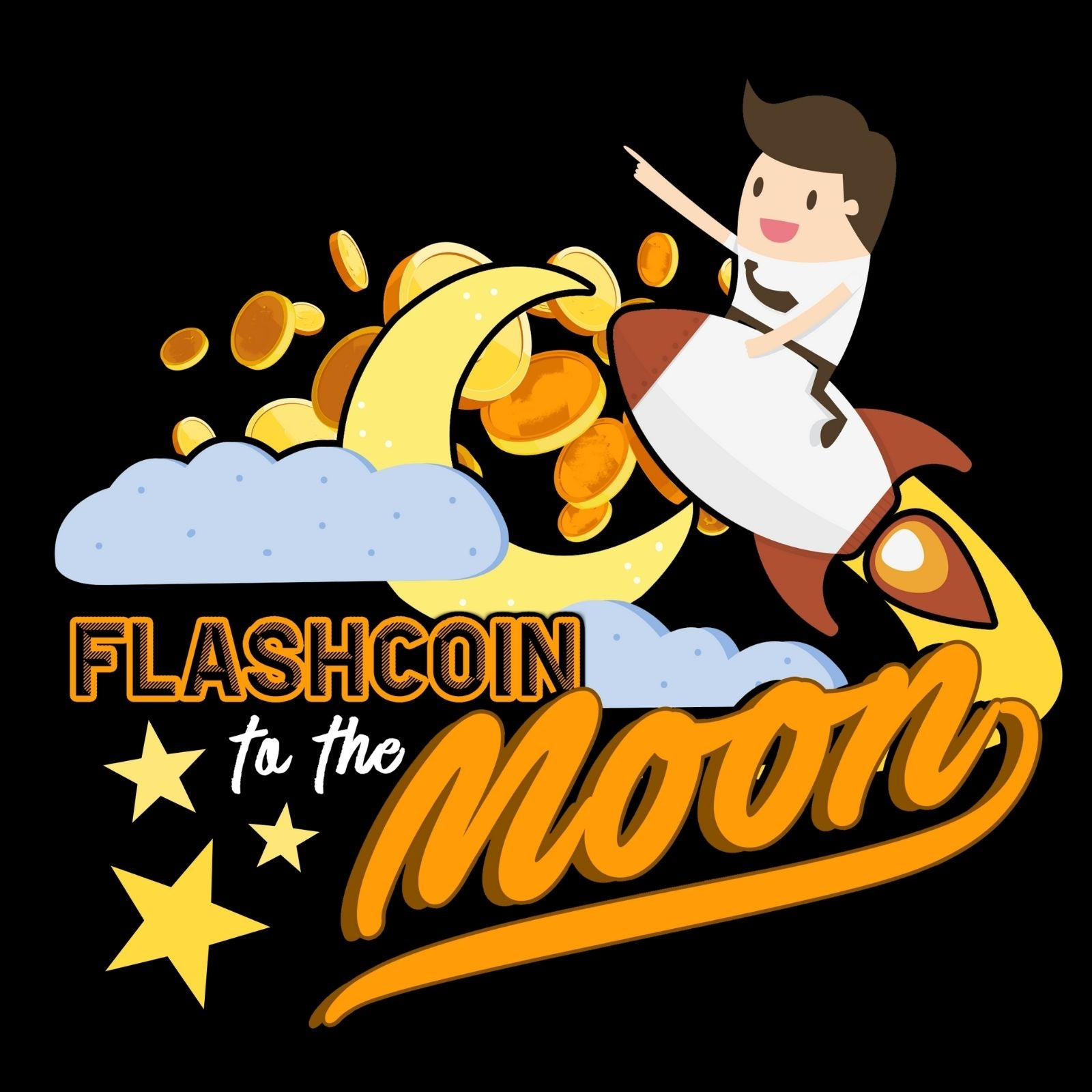Flashcoin To The Moon 1 - Bastard Graphics