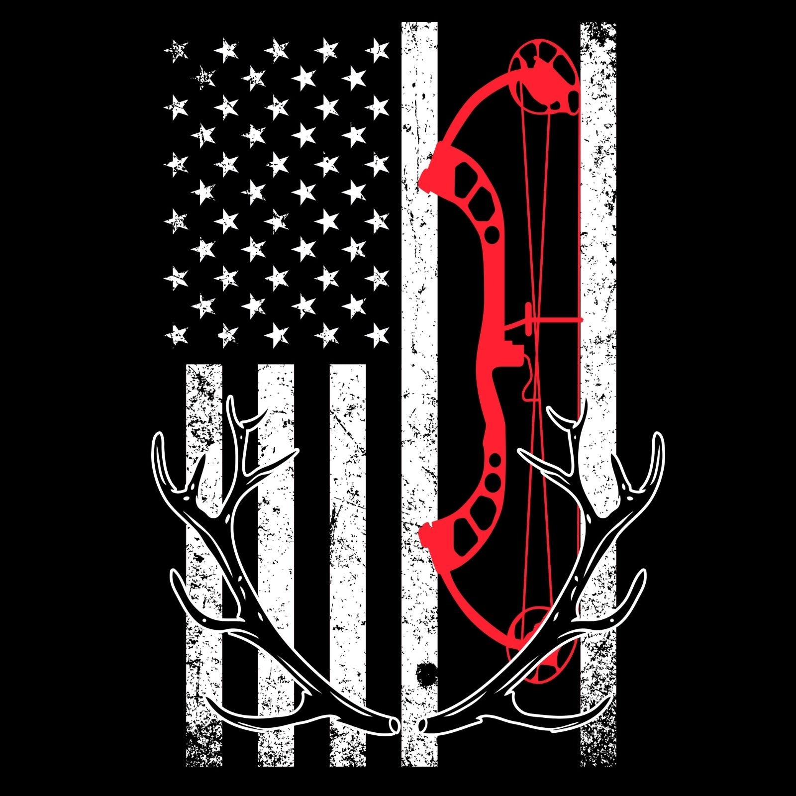 Cross Bow & USA Flag - Bastard Graphics