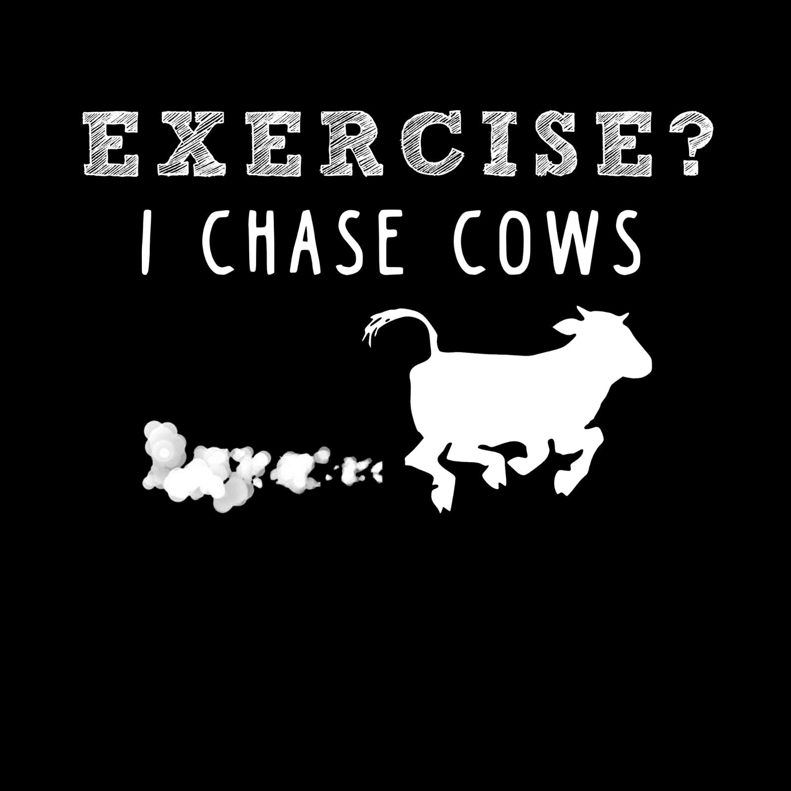 Exercise? I Chase Cows - Bastard Graphics