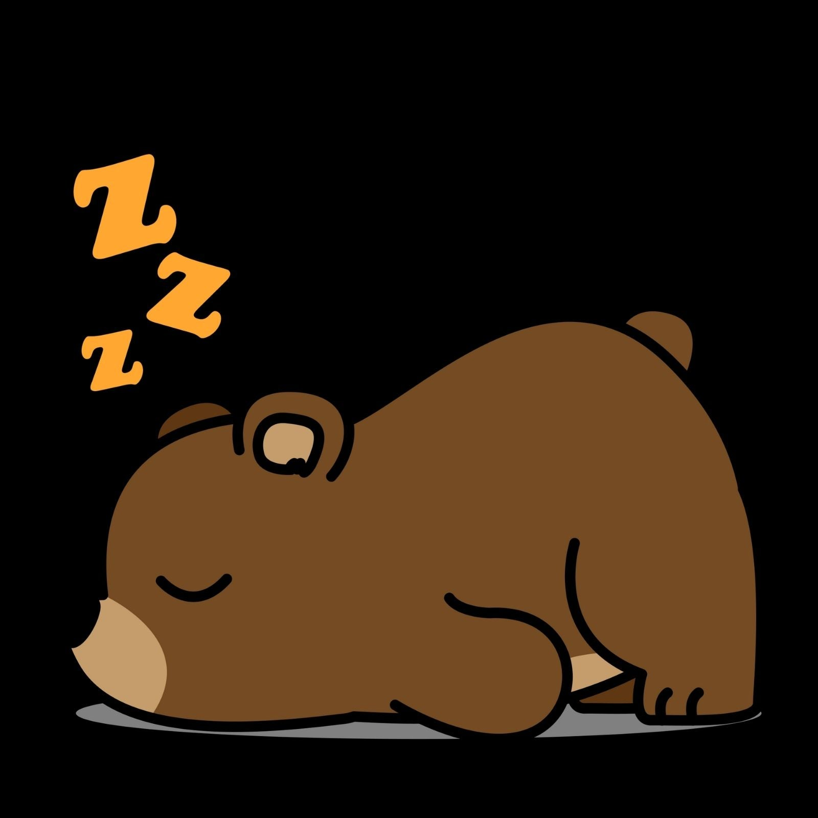 Bear Asleep - Bastard Graphics