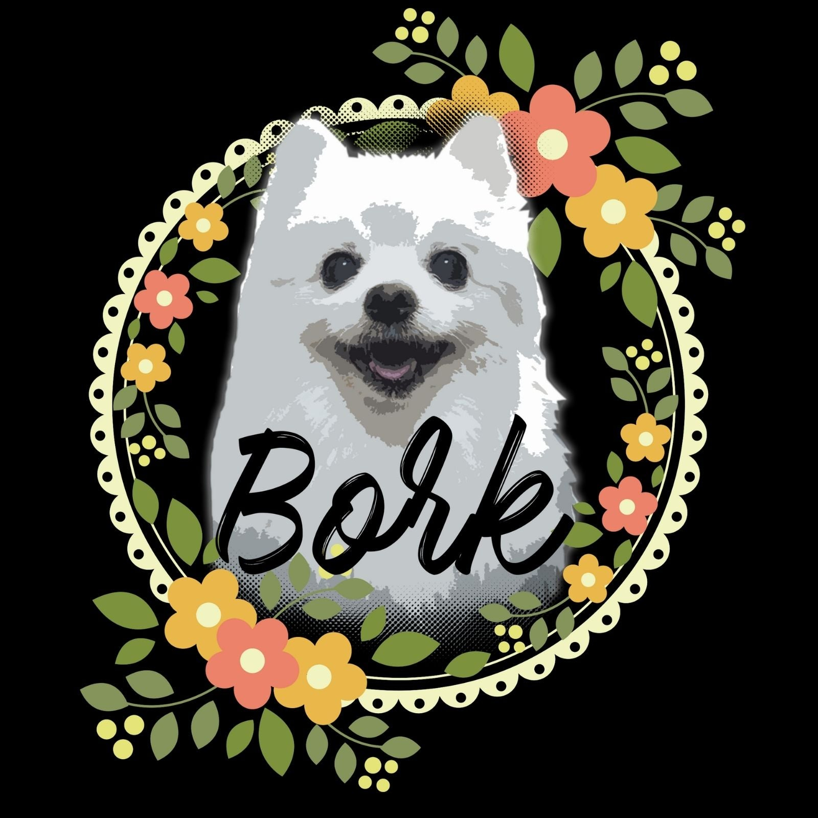 Bork Gave With Flowers - Bastard Graphics