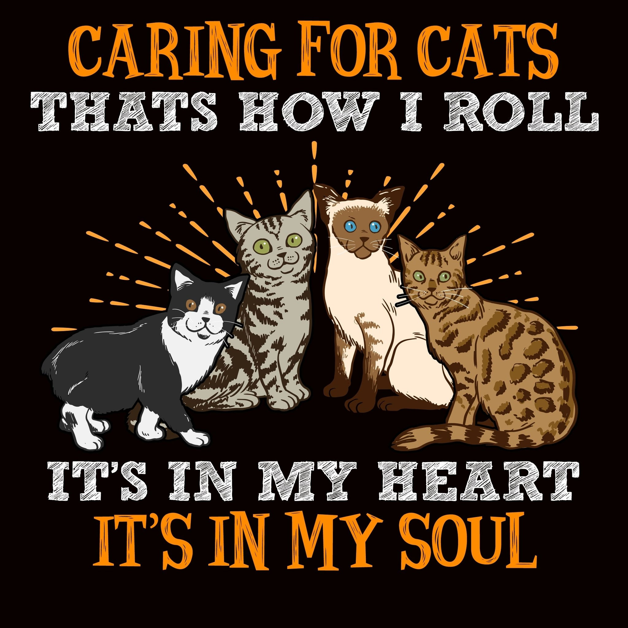 Caring For Pets Is How I Roll Cats - Bastard Graphics
