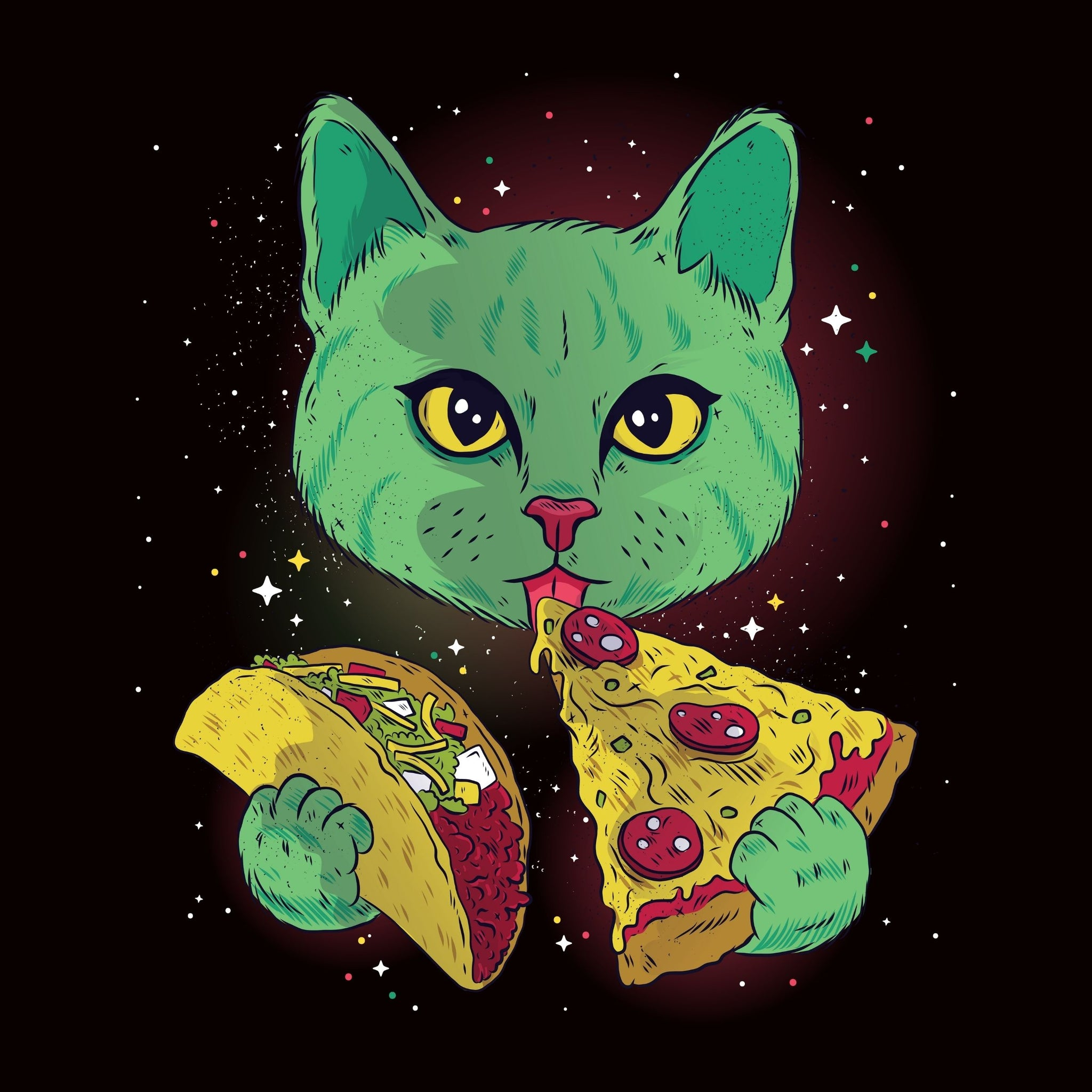 Pizza And Taco Cat In Space - Bastard Graphics