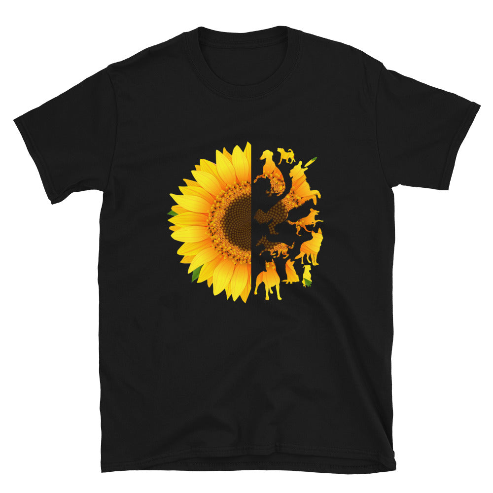 Sunflower And Dogs Silhouette - Bastard Graphics