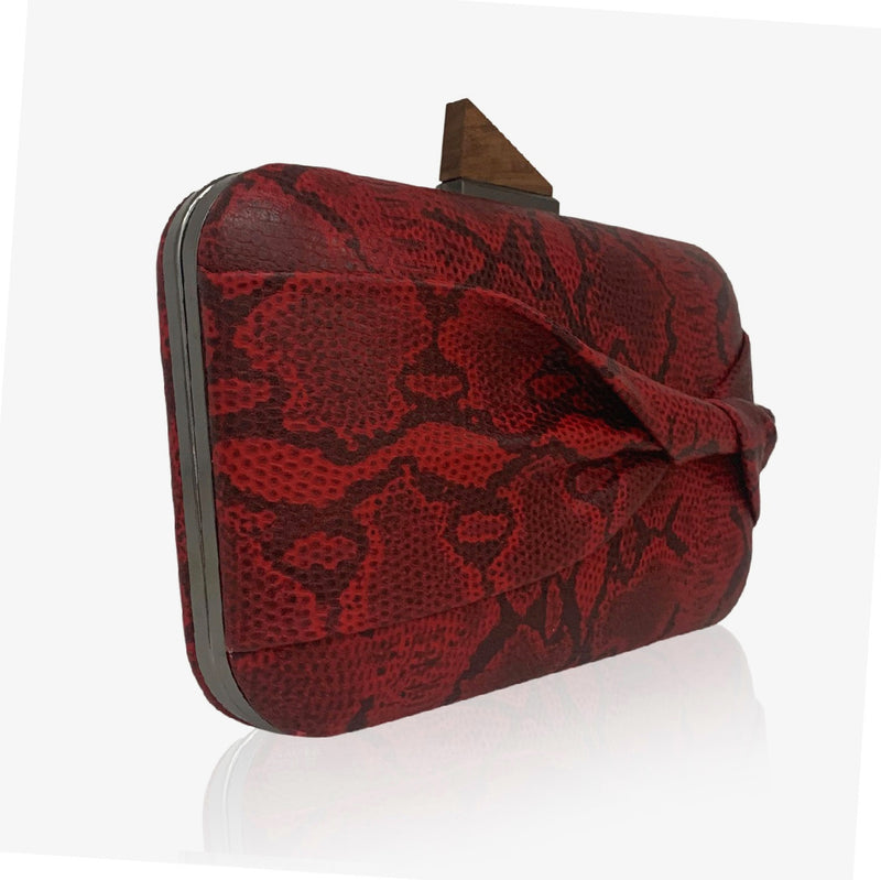 SHELIE - red snake print