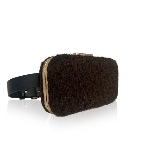 MOHNA - brown mohair