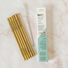 Load image into Gallery viewer, Bamboo Straws 6pk