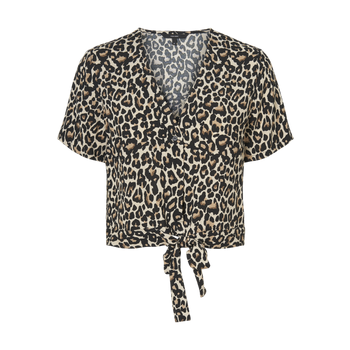 Vero Moda Tie Crop Top - Animal Print
