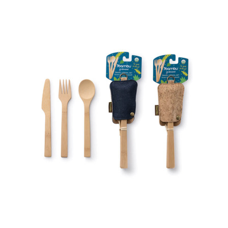 Bambu Travel Utensil Set w/ Pouch