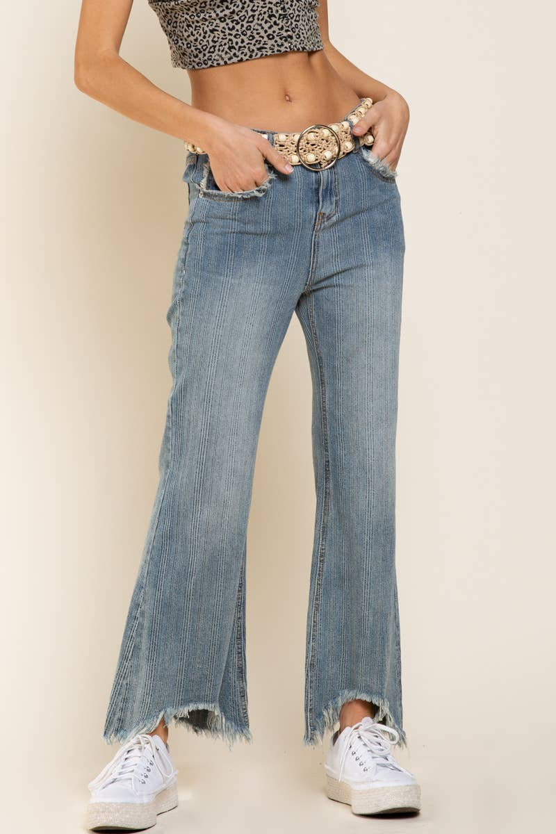 High Low Flare Jeans