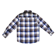 Load image into Gallery viewer, Bear Camp White/Blue Plaid Woven Shirt w/1 Chest Pocket