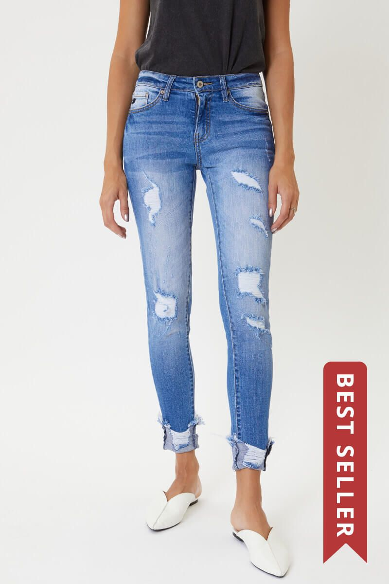 KanCan Florence Mid Rise Super Skinny Jeans