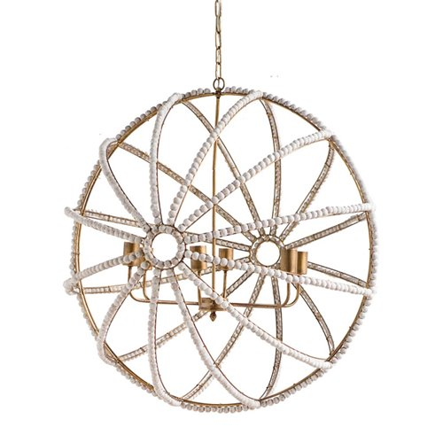Mercana Ava White Chandelier 65273