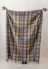 "Load image into Gallery viewer, Tartan Blanket Recycled Wool Blanket - Buchanan Natural 57"" L"