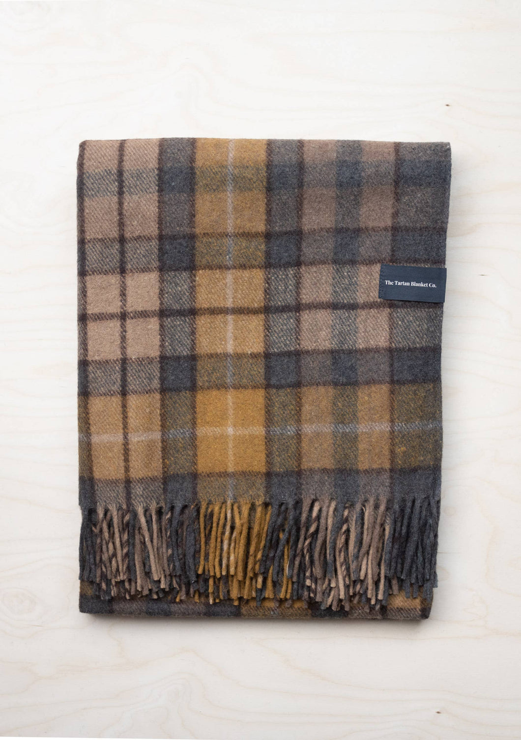 Tartan Blanket Recycled Wool Blanket - Buchanan Natural 57