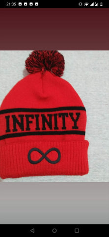 Red INFINITY Beanie