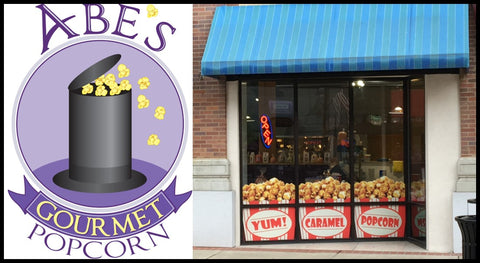 Outside Front of Abe's Gourmet Popcorn store. 101 E Main St Belleville Il 62220