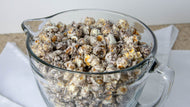 Silver Bells popcorn in a glass bowl.