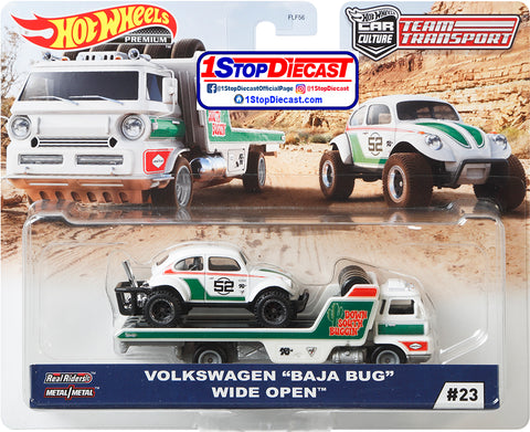 Hot Wheels Team Transport Volkswagen Baja Bug and Wide Open Down South Buggin