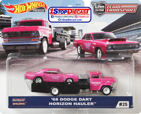 Hot Wheels Team Transport 68 Dodge Dart and Horizon Hauler Swingin' Thing