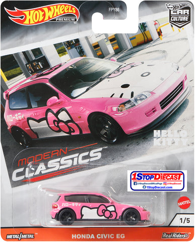 Hot Wheels Car Culture Hello Kitty Honda Civic EG