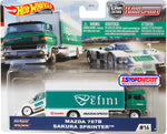 Hot Wheels Team Transport Mazda 787B and Sakura Sprinter Set