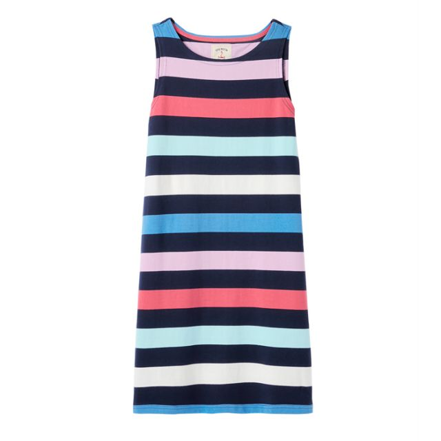 Joules Riva Dress in Navy Multi Stripe