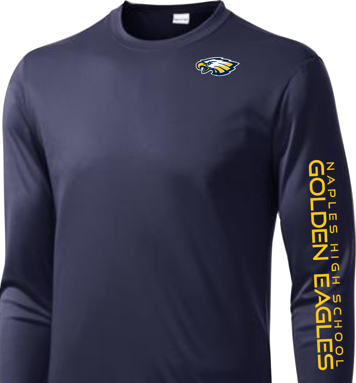 Navy long sleeve performance T