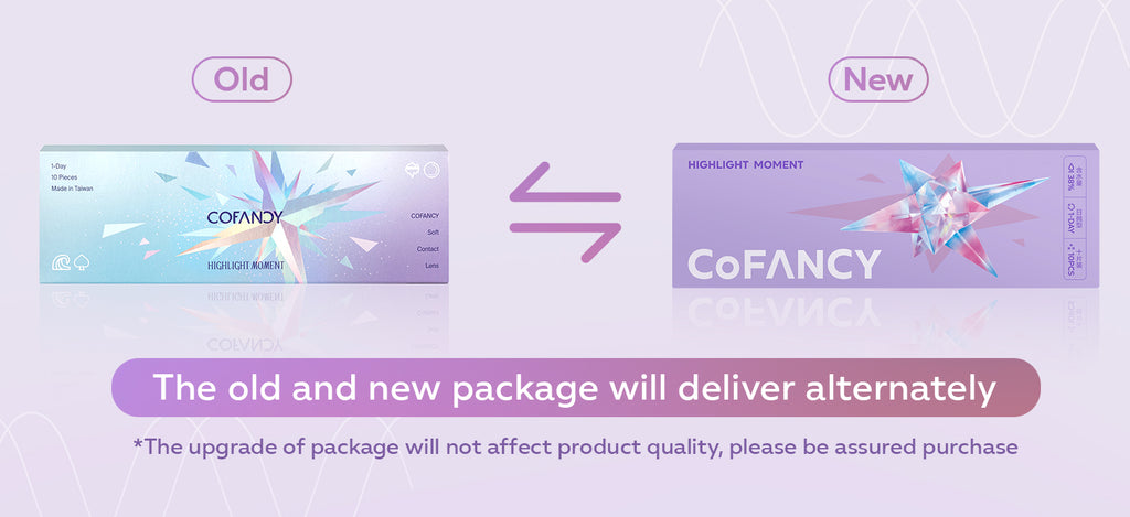 CoFANCY Contact Lens Packaging Upgrading information