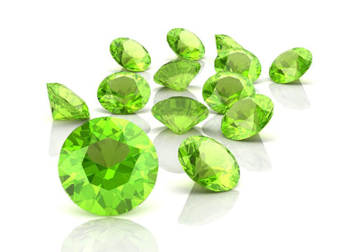 Peridot Gem With shines
