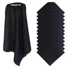 Load image into Gallery viewer, (6) KleenSlate Black Magnetic Microfiber Cleaning Cloths