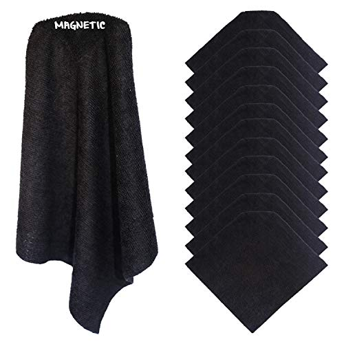 (6) KleenSlate Black Magnetic Microfiber Cleaning Cloths